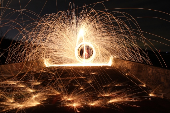 Steel Wool Long Exposure Photo